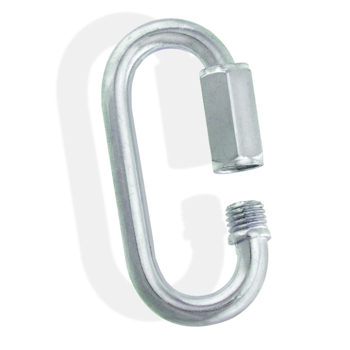 Zinc Galvanized Steel Quick Links - 1/8'' to 5/8'' - 1-1/2'' to 6'' - Chain, Ropes Link size: 1/4 x 2-1/2'