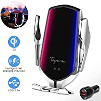 Wireless Charger Car Touch Sensing Automatic Retractable Clip Fast Charging Compatible...