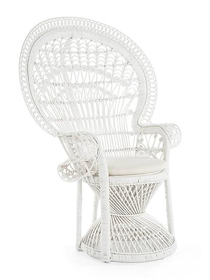 Amazon Com Kouboo 1110023 Pecock Grand Peacock Chair In Rattan With