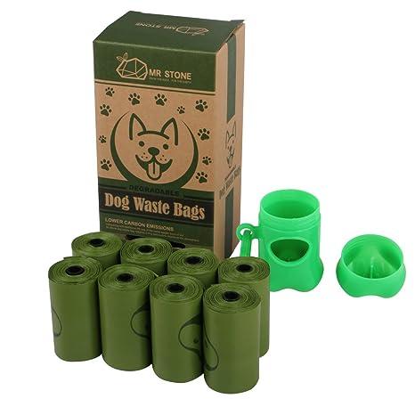 Amazon.com: Mr. Piedra Degradable bolsas de residuos perro ...