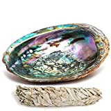 "kit of California White sage Smudge (4"") and Abalone Seashell (4.5-6"")"