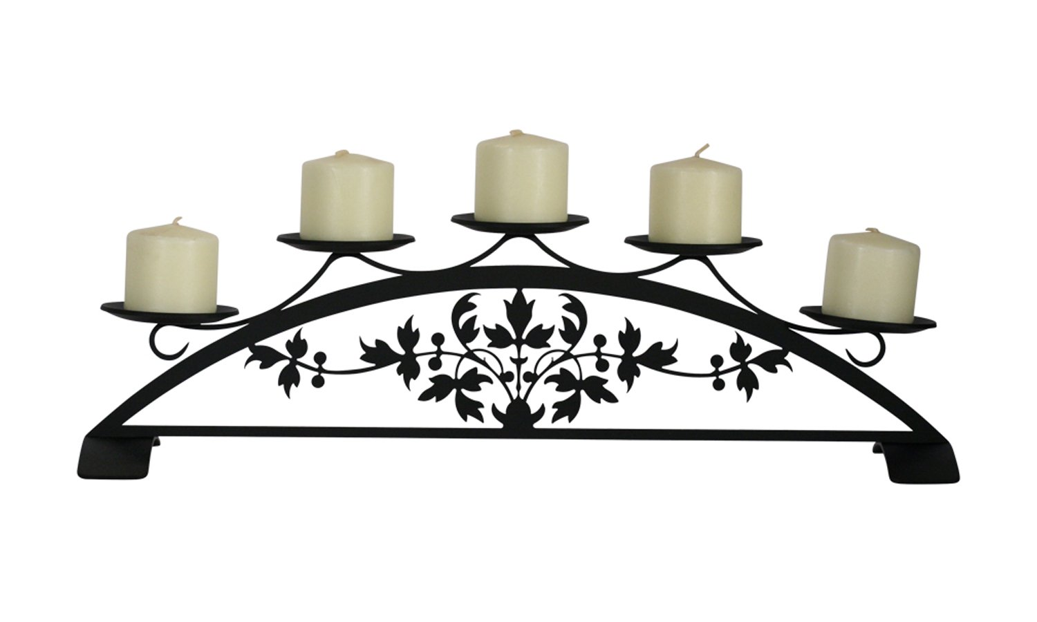 StealStreet C-PLB-173 18.5 Victorian Table Top Pillar Candle Holder Village Wrought Iron C-PFP-173