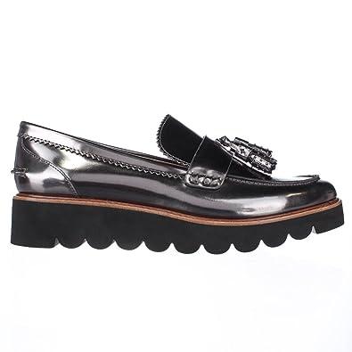 Coach Irvine - Mocasines de Material Sintético para Mujer Plateado Gris, Color Plateado, Talla 42 2/3: Amazon.es: Zapatos y complementos