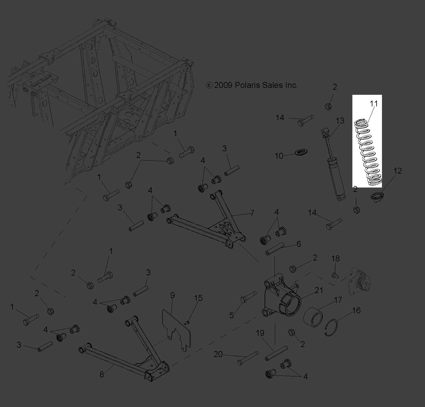 Polaris SPRING-240#//IN,12.75 LG,M BLK