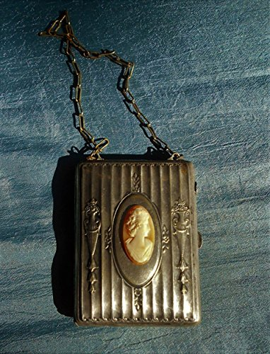 100 Year Old Chatelaine Sterling Dance Card Purse Opens to Coins-bills Holder, Powder & Dance Cards (empty), Victorian Excellent Condition. Your Choice with or without Cameo - Silver Chatelaine Sterling