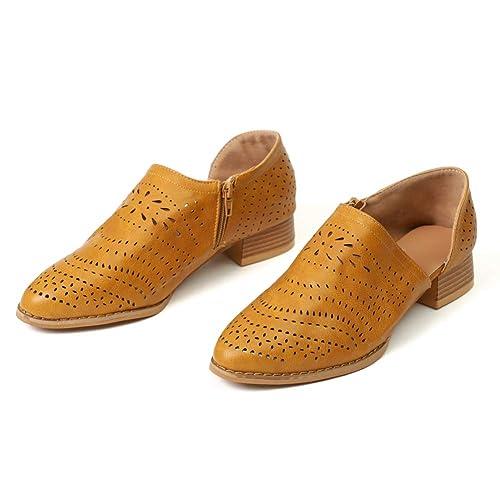 Botines Mujer Tacon Medio Mocasines Mujer Ante Casual Loafers Primavera Verano Botas de Tobillo Zapatos 3cm Negros Caqui Rosado 35-43: Amazon.es: Zapatos y ...