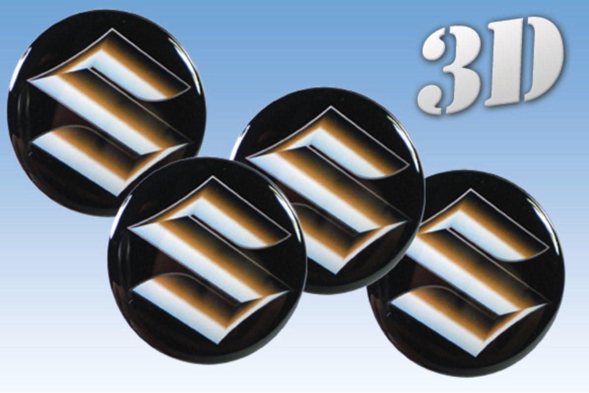 Wheel stickers Suzuki imitation all size Centre Cap Logo Badge Wheel Trims 3d small 8mm.8pcs in pack