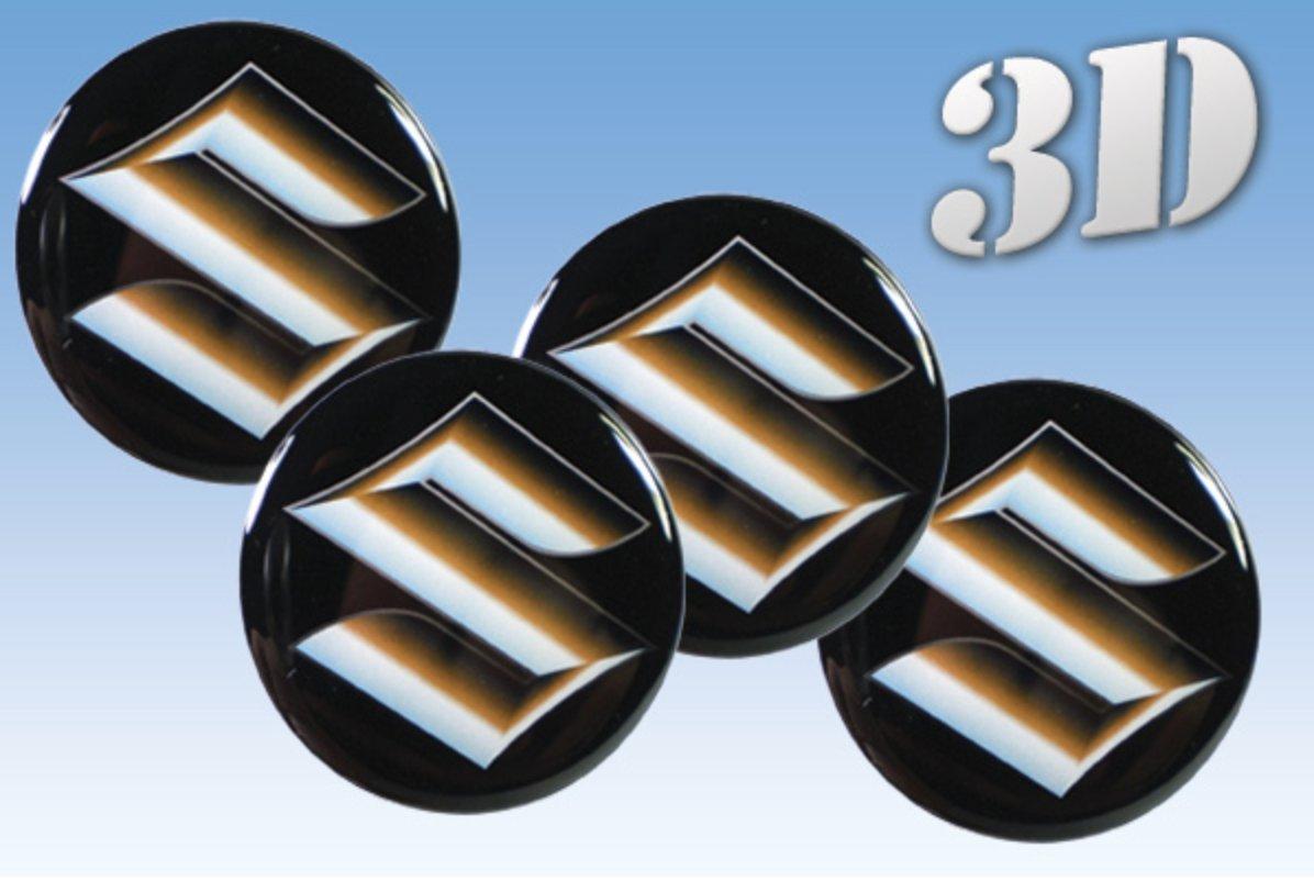 autocollants sur pneus Suzuki imitation tout Centre taille Cap Logo Badge Enjoliveurs 3d (60mm.)