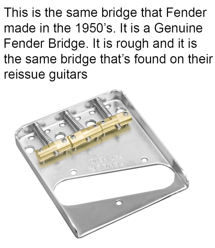 Fender Telecaster Bridge w/Compensated/Staggered Saddles