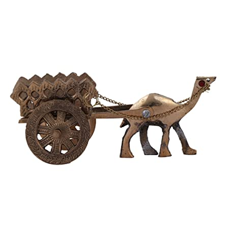 Amazon Com Ratnatraya Brass Camel Cart Showpiece Home Decor Gift
