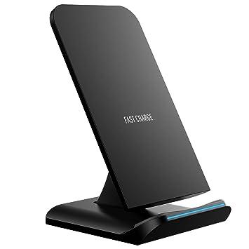 Holife Cargador Inalámbrico, [Versión Nueva] Cargador Inalámbrico Rápido 10W para Galaxy S9/S9 Plus/S8/S8+/S7/S7 Edge/S6 Edge +/Note 5/Note 8, Carga ...