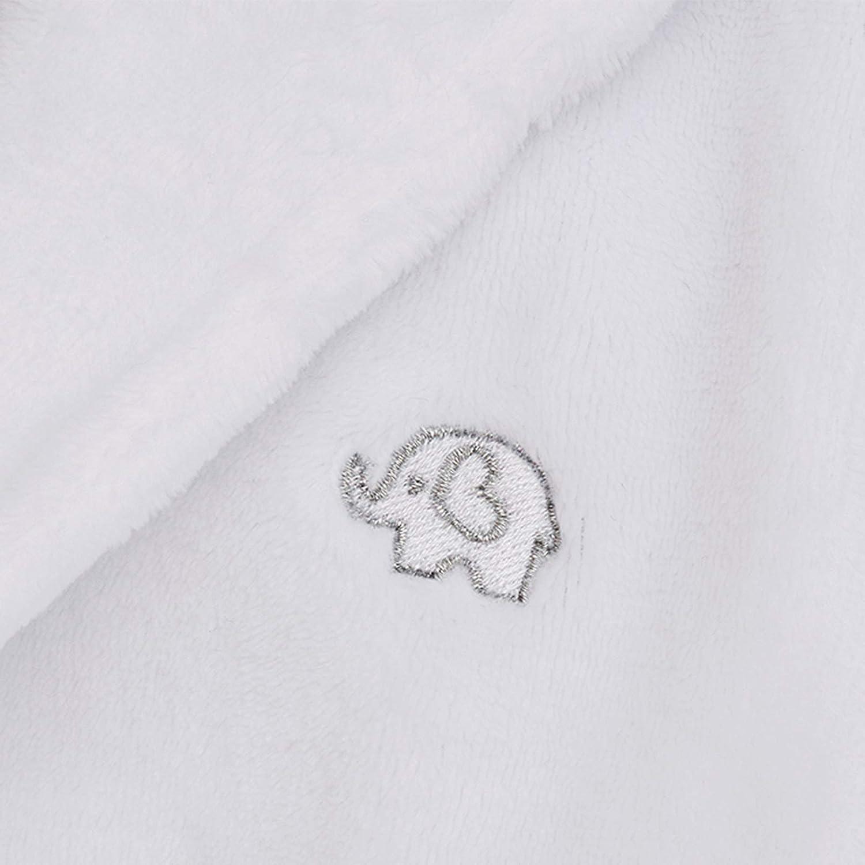 Lora Dora Baby Girls Hooded Fleece Dressing Gown White 0-6 Months
