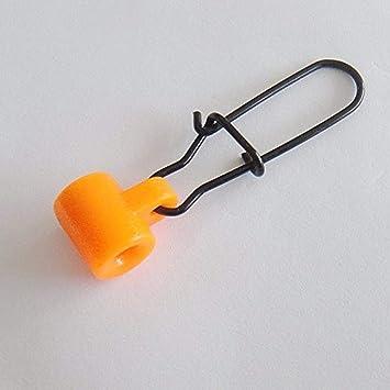 50x Fishing Sinker Slides Hakenleinenanschlüsse Kunststoffkopf mit schönem