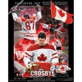 Frameworth Sidney Crosby Plaque Team Canada 2010 Collage, 16x20, Black