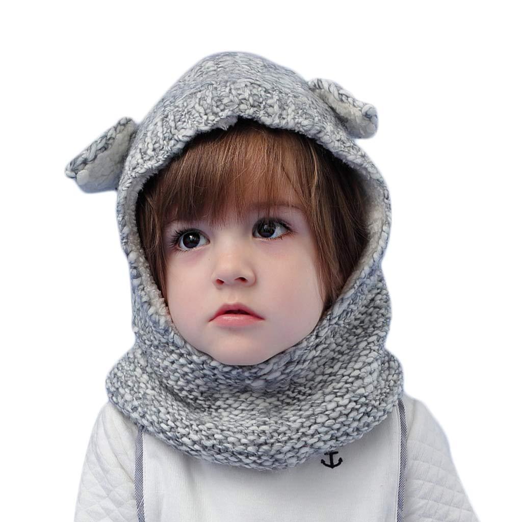Arcweg Mü tze Kinder Winter Warm Weich Balaclava Baby Schlupfmü tze Gefü ttert Schalmü tze mit Ohren Jungen Mä dchen Strickmü tze Beanie Ohrenschutz Wandern