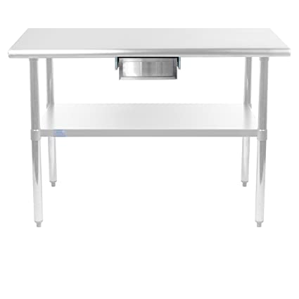 AmGood Stainless Steel Table Drawer Metal Drawer For Prep Work - Stainless steel work table with drawers