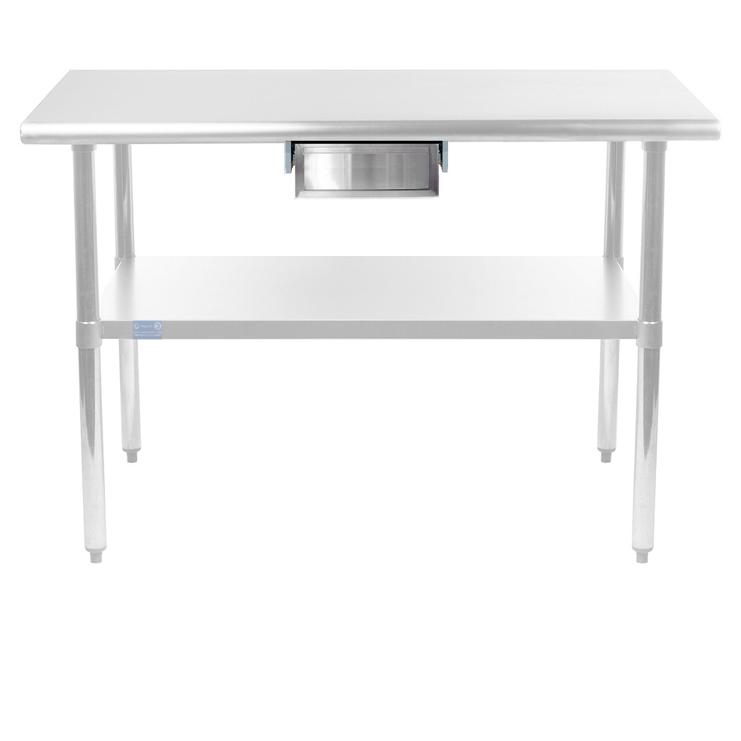 AmGood Stainless Steel Table Drawer - Metal Drawer For Prep Work Table, Heavy Duty, NSF Certified (20'' x 15'' x 5'')