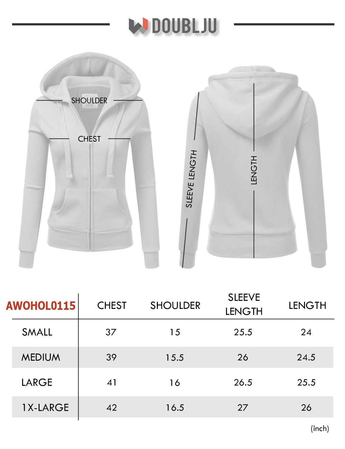 Doublju Lightweight Thin Zip-Up Hoodie Jacket for Women with Plus Size Plum Large by Doublju (Image #5)