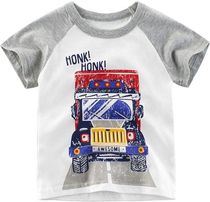 27 KIDS Camiseta Infantil De Manga Corta con Cuello Redondo ...
