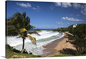 "GREATBIGCANVAS Puerto Rico, West Coast, Rincon, Domes Canvas Wall Art Print, Home Decor Artwork, 18""x12""x1.5"""