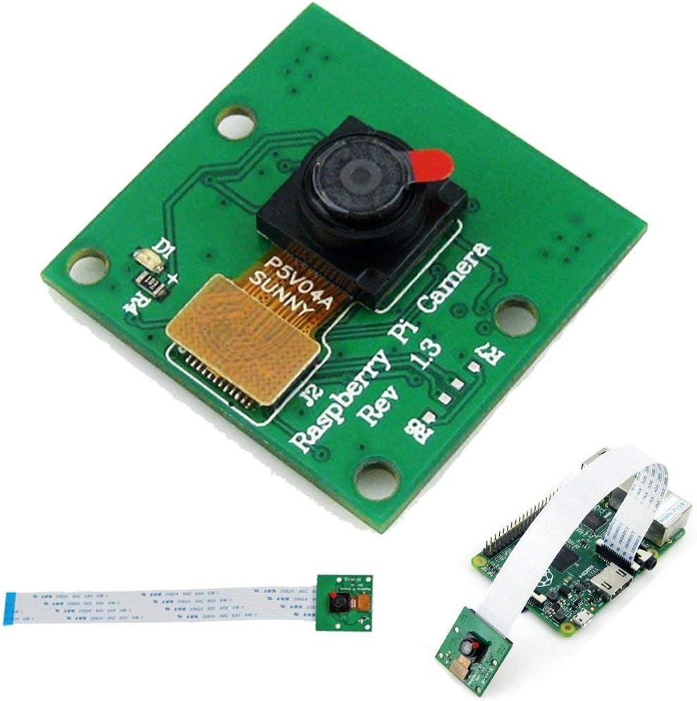 5MP Camera Module 1080p with 15cm 15Pin Flex Ribbon Cable for Raspberry Pi 3 2 Model B B A+