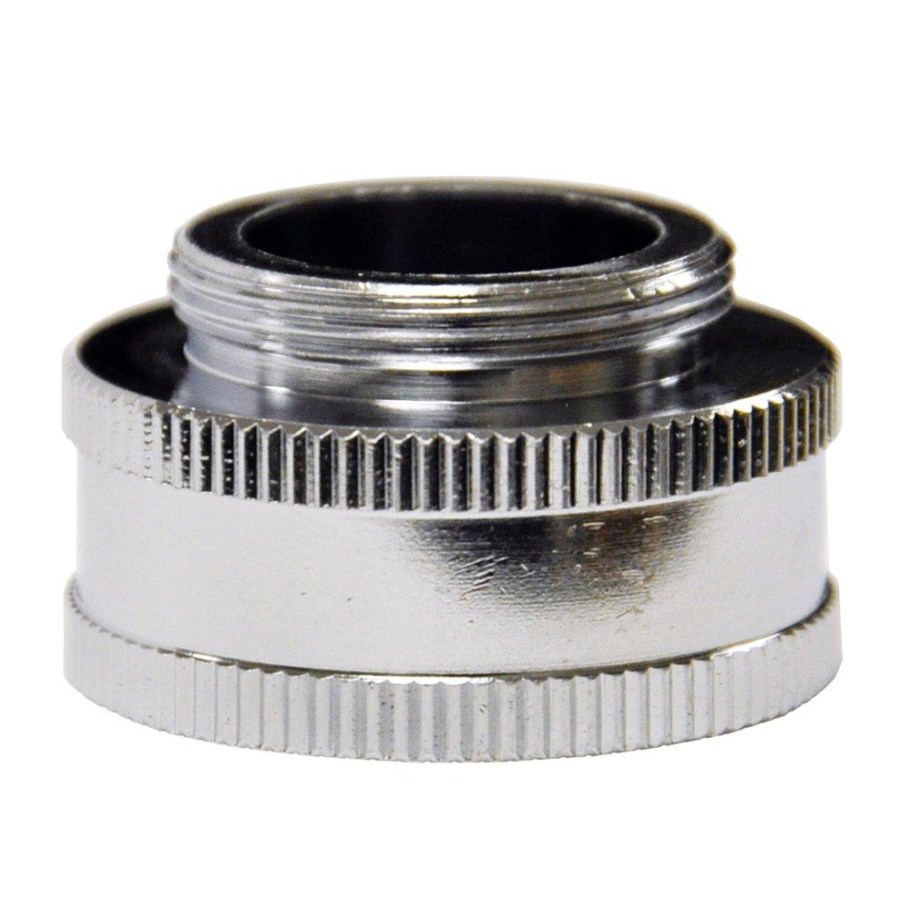"Danco, Inc. 10511 Garden Hose Adapter, 3/4 X 55/64-27, Ghtf X Male, Chrome Plated, 3/4"" 55/64""-27M, Brass"