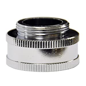 "Danco, Inc. 10511 Garden Hose Adapter, 3/4 X 55/64-27, Ghtf X Male, Chrome Plated, 3/4"" 55/64""-27M, Brass"