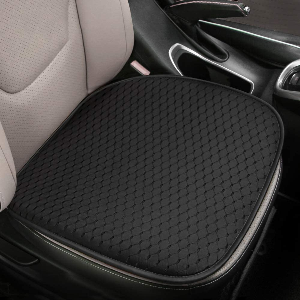 Tsumbay Car Seat Cushion Unique Mesh Fabric Seat Cushion Pad Memory Foam Breathable Universal Seat Cushion Comfortable Soft Driver Seat Pad Non-Slip Seat Protector for Home/Car/Office Use - 1Pcs