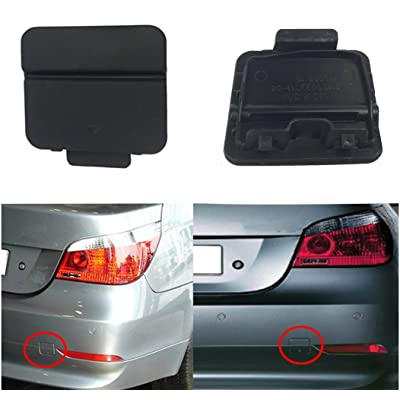 Free2choose Rear Bumper Tow Hook Cover Cap for E60 E61 525i 528i 530i 530xi 540i 2004 2005 2006 2007(Primer): Automotive