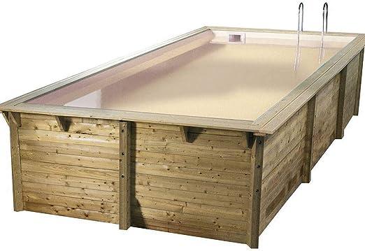 Ubbink Piscina madera sunwater 3,00 x 5,50 x 1,40 m – Liner Beige ...