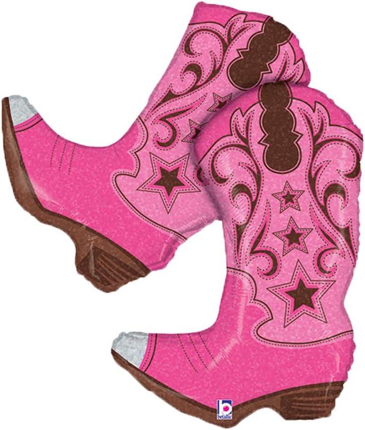 Dancing Pink Cowgirl Boots Jumbo 36