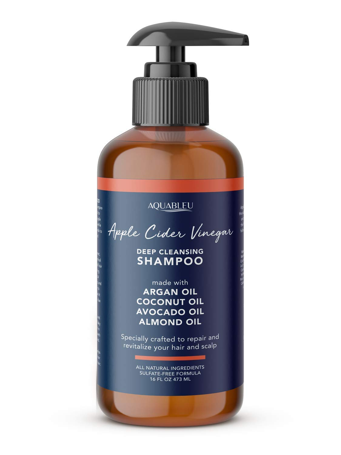 Apple Cider Vinegar Shampoo - Clarifying & Restorative - Anti Frizz & Dandruff - For Hair loss - No Sulfates Parabens & Silicones - For color-treated hair - For Men & Women (16 oz )