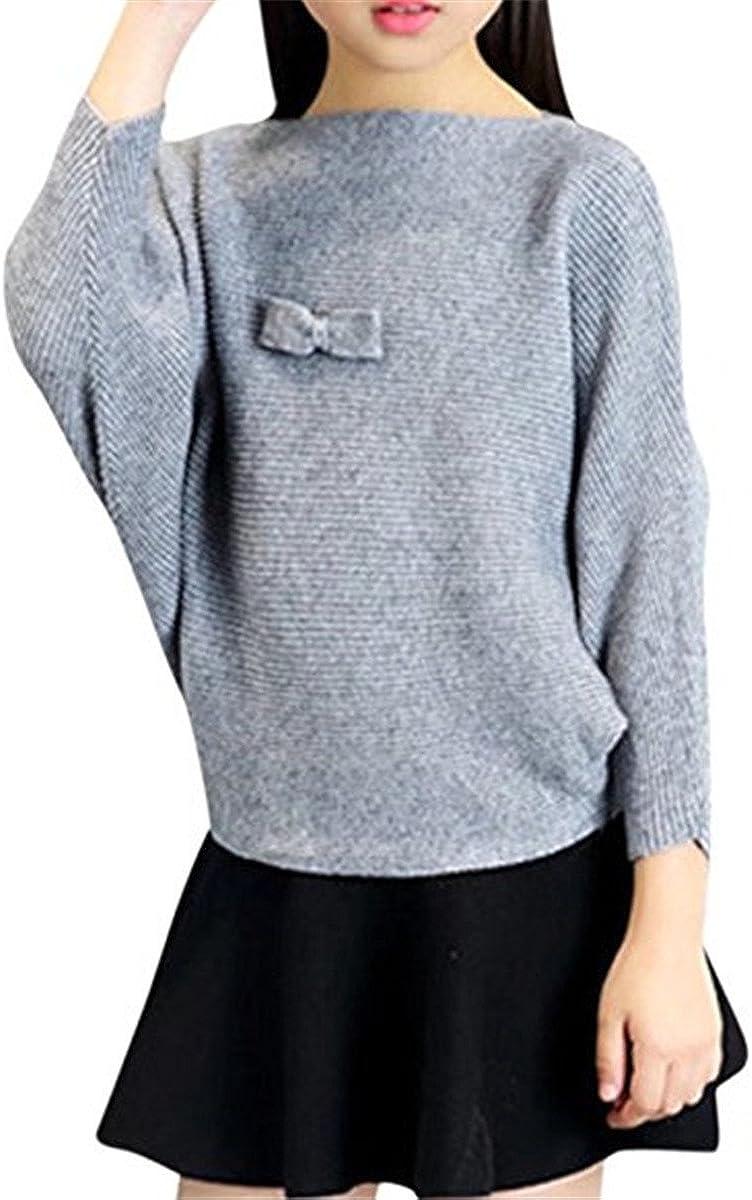 JELEUON Little Girls Cute Bunny Kid Pullover Knit Sweater Sweatshirt