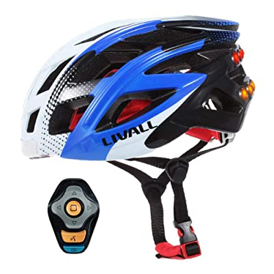 TOINY Smart Riding Helmet Mountain Bike Electric Car Men and Women Bluetooth Warning Light Integrated Helmet Adult Bicycle Helmet : Sports & Outdoors