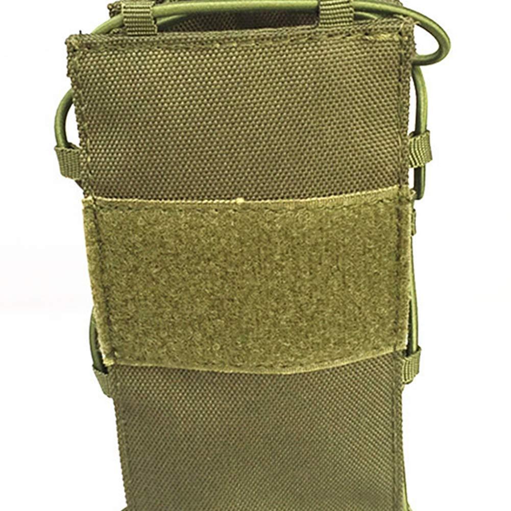 Outdoor Tactical Bag Adjustable Tactical Water Bottle Pouch Foldable MOLLE Water Bottle Holder Attachment Carrier for Backpack//Waist Bag//Belt Black