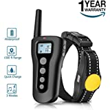 BOOCOSA Dog Training Collar, 1000ft Remote Dog Shock Collar, 100% Waterproof and Rechargeable with Beep/Vibra/Electric Shock