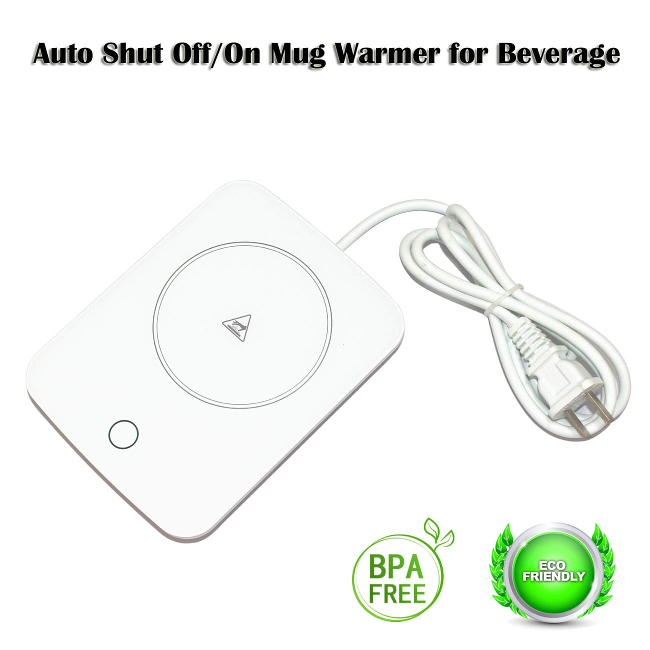 Mug Warmer For Desk Auto Shut Off Beverage Warmer-(Up to 131F℉/55℃)-Heater Surface for Home Office Coffee Shop Use (Tea,Water,Cocoa,Soup or Milk), coffee mug warmer beverage warmer