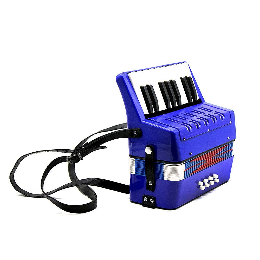 Accordion Lightweight Small Size Children's Toy Accordion Kids Piano Accordion 17 Keys 8 Bass with Straps Music Instruments for Beginners Students Educational Instrument Band Toy Children's Gift by Ybriefbag-Musical Instruments (Image #6)