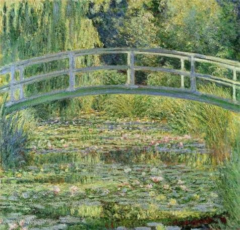 [Oil Painting 'Bridge Over A Pond Of Water Lilies By Claude Monet' 12 x 12 inch / 30 x 32 cm , on High Definition HD canvas prints is for Gifts And Bed Room, Dining Room And Foyer] (Cobra Kai Costume For Sale)