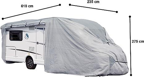 Unbekannt VARILANDO/® Wohnmobil-Schutzplane in 3 Gr/ö/ßen S M L Wohnmobil-Abdeckplane Wohnmobil-Garage Wohnmobil-Schutzh/ülle Abdeckung