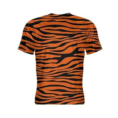 7147412e Amazon.com: LightningWear Tiger Print Short Sleeve Shirt - Tiger Shirts - Tiger  Print Shirts: Clothing