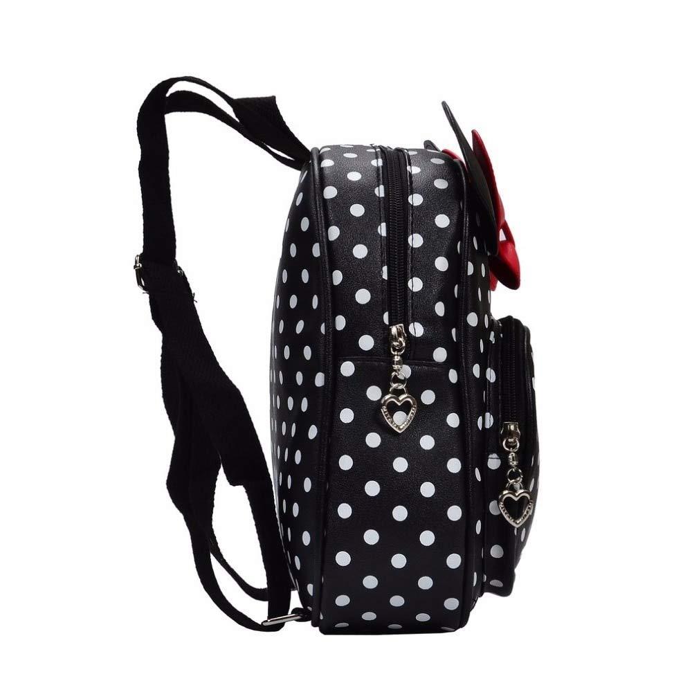 Amazon.com: 2018 Cute Bow Tie Mini Backpack for Girl Toddler Bacpback Minnie Mochila Cartoon Small School Kanken Bolsa: Kitchen & Dining