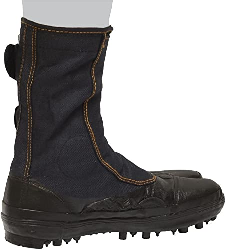 Japanese Tabi Shoes Ninja Boots Black 29CM(US11) Spike Rubber Boots MARUGO