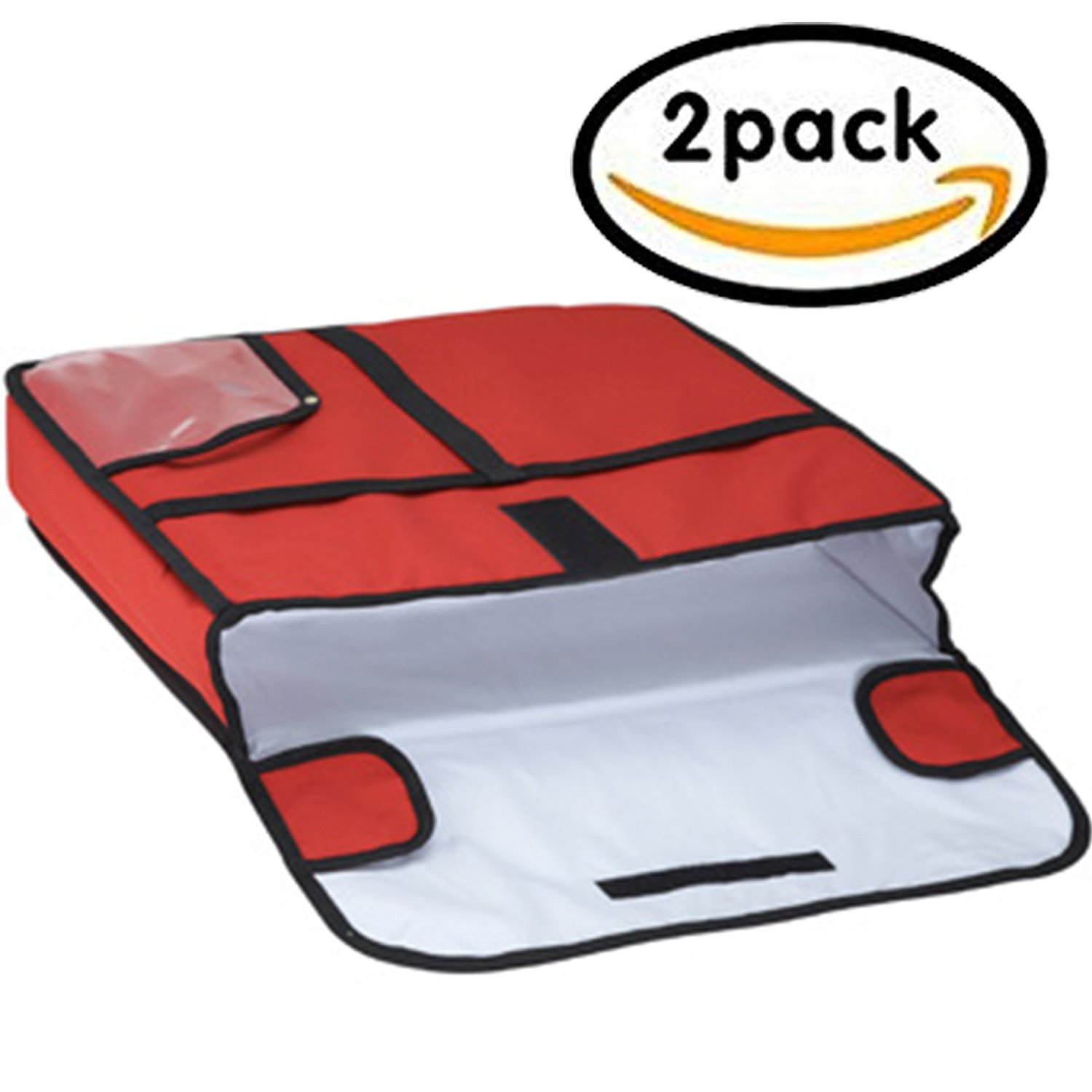 Pizza Delivery Bag, Insulated, Red, 20 x 20 inch (Set of 2)