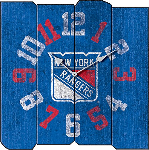- Imperial Officially Licensed NHL Merchandise: Vintage Square Clock, New York Rangers