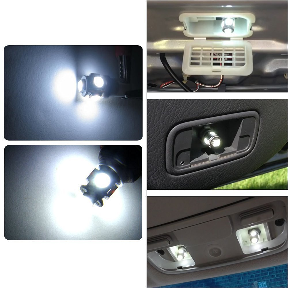 Dome License Plate Dashboard Side Marker Light Courtesy PESIC 30x T10 194 5-SMD 5050 Chips White LED Light 12V 6500k Car Interior and Exterior Replacement For W5W 168 2825 Map