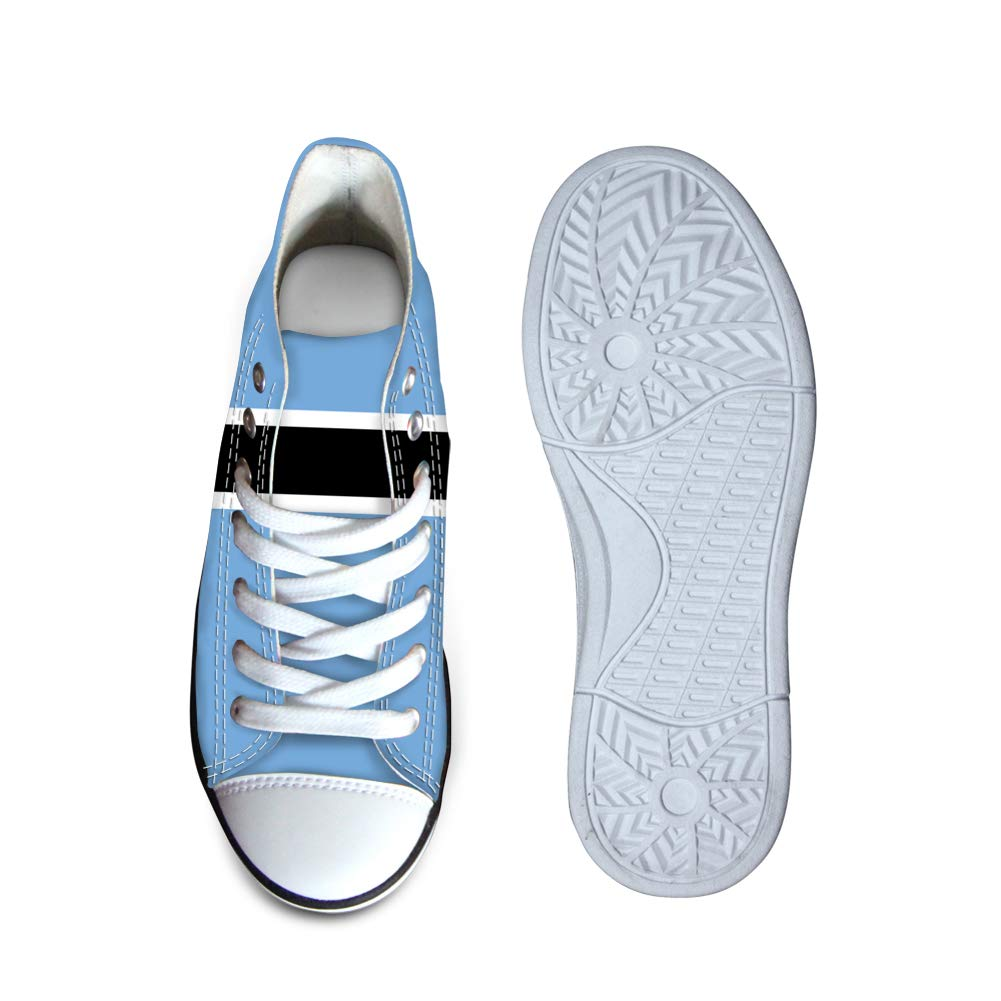 Canvas High Top Sneaker Casual Skate Shoe Boys Girls Botswana Flag