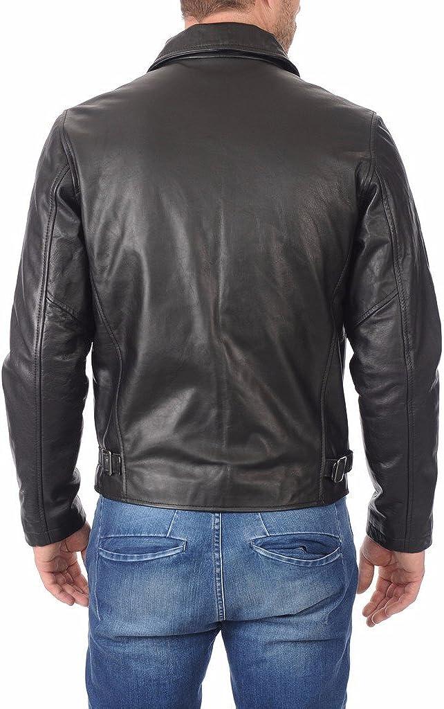 Leather Market Mens 100/% Lambskin Leather Bomber Biker Jacket outfit
