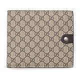 Gucci Cocoa Beige Canvas Leather Wallet Micro Guccissima 334715