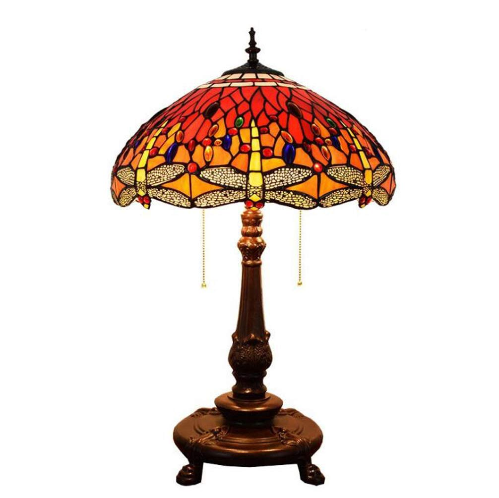 KUANDAR Light Dragonfly Style Table Lamp 4572cm Suitable for Living Room Dining Room Study Room Bedroom Bathroom Corridor Balcony Stairs Path Hotel Restaurant Cafe Bar Library, Color